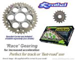 RACE GEARING: Renthal Sprockets and GOLD Renthal SRS Chain - Ducati Hypermotard 796 (2011-2013)